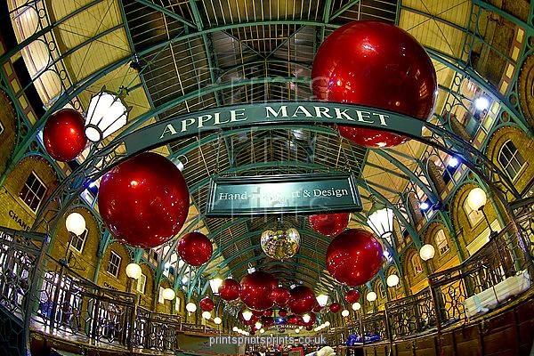 Covent Garden Christmas Decorations go up before the end of October, Covent Garden, London