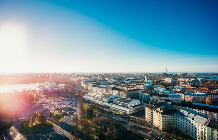 Helsinki'nin yukarıdan manzarası. © Jussi Hellsten